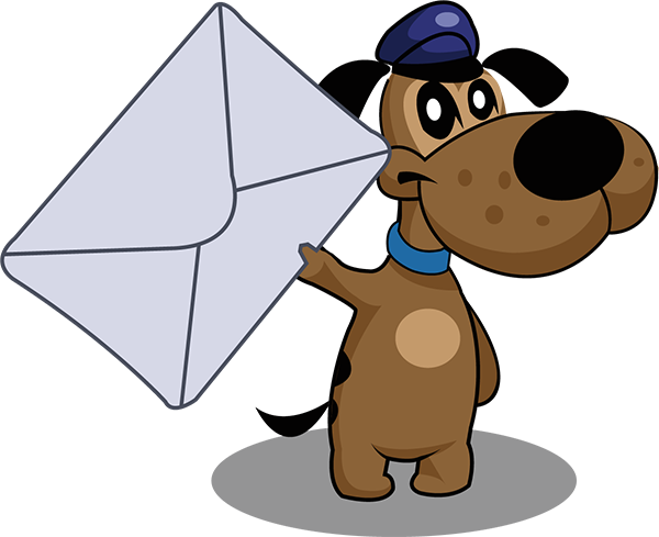 Lucky.pet mascott with mail image
